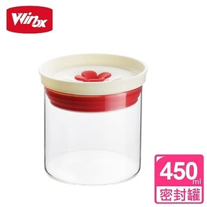 【美國 Winox】嗡嗡花芯密封罐450ML(2色可選)白色