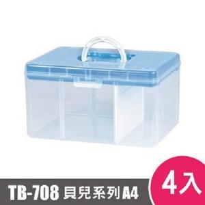 樹德SHUTER FUN貝兒手提箱(A4)TB-708 4入藍