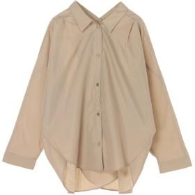 【6,000円(税込)以上のお買物で全国送料無料。】・furry rate バックカシュクールネックシャツ