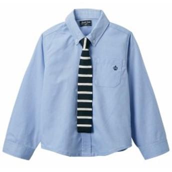 ニットタイ付きシャツ(男の子 ベビー服 子供服) ニッセン nissen