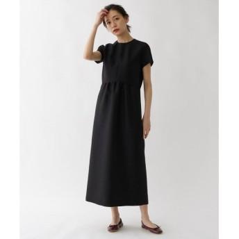 DRESSTERIOR / ドレステリア シルクウールブラックドレス