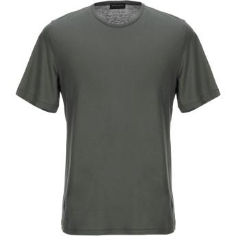 《セール開催中》ROBERTO COLLINA メンズ T シャツ ミリタリーグリーン 46 コットン 100%
