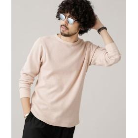 ナノ・ユニバース ジャガードワッフルロングスリーブTシャツ メンズ ピンク S 【nano・universe】
