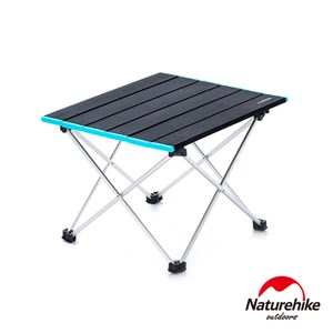 Naturehike FT08極輕量可捲式鋁合金露營桌 折疊桌 蛋捲桌黑色