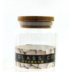 木蓋玻璃密封罐500ml