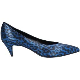 《期間限定セール開催中!》SAINT LAURENT レディース パンプス ブルー 36.5 紡績繊維
