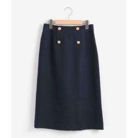 le.coeur blanc / ルクールブラン メタルボタンタイトスカート