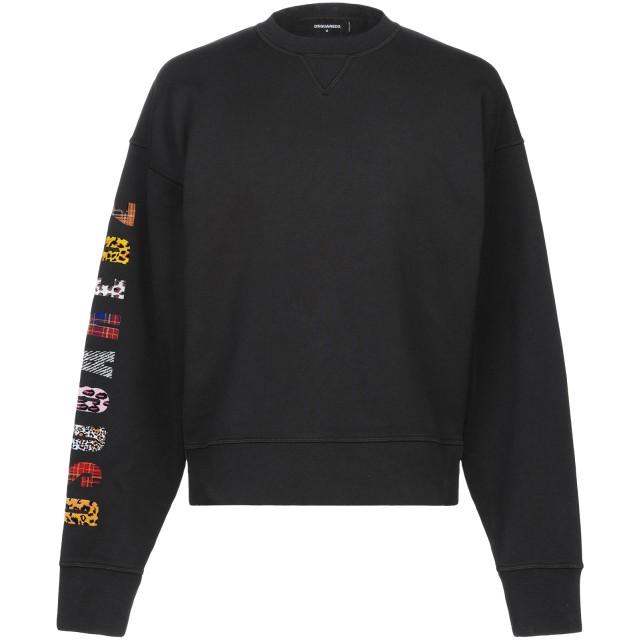 《セール開催中》DSQUARED2 メンズ スウェットシャツ ブラック XS コットン 100% / ポリウレタン