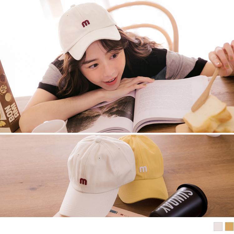 高含棉個性M字棒球帽