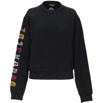 《期間限定セール開催中!》DSQUARED2 レディース スウェットシャツ ブラック XS コットン 100% / ポリウレタン