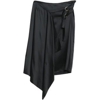 《9/20まで! 限定セール開催中》PATRIZIA PEPE レディース ひざ丈スカート ブラック 42 アセテート 62% / レーヨン 38%