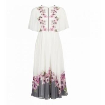 テッドベーカー Ted Baker レディース ワンピース ワンピース・ドレス Begoni Neopolitan Frilled Neck Maxi Dress Ivory Multi
