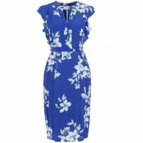 フェーズ エイト Phase Eight レディース ワンピース ワンピース・ドレス Olive Floral Frill Sleeve Dress BLUE