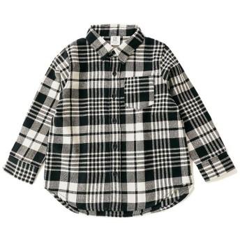 デビロック ネルチェックシャツ レディース ブラック 110 【devirock】