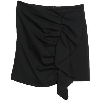 《セール開催中》SOUVENIR レディース ミニスカート ブラック S コットン 52% / ナイロン 40% / ポリウレタン 8%
