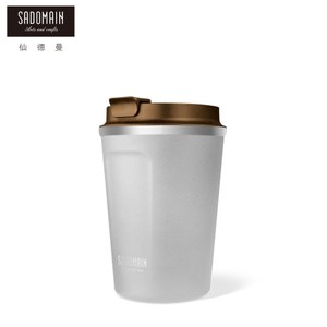 【仙德曼 SADOMAIN】316咖啡直飲保溫杯360cc-白色360cc