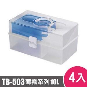 樹德SHUTER薄霧系列手提箱503型TB-503 4入藍