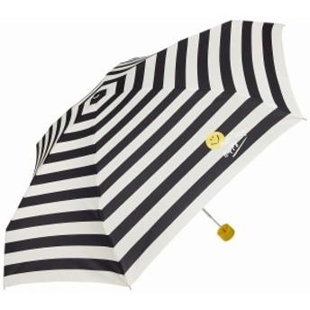ワールドパーティー(Wpc.) 雨傘 折りたたみ傘 ブラック 黒 53cm レディース スマイリーフェイス