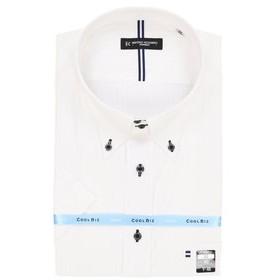 【GRAND-BACK:トップス】【大きいサイズ】ハイブリットセンサードゥエボタンダウン半袖シャツ
