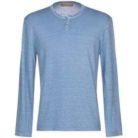 《9/20まで! 限定セール開催中》DANIELE FIESOLI メンズ T シャツ ブルーグレー L 麻 96% / ポリウレタン 4%