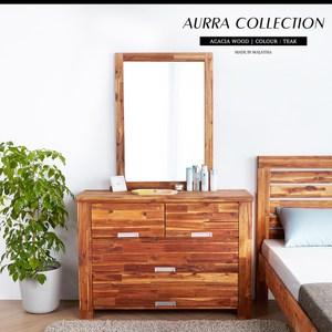多層次拼接相思木紋 簡易四抽收納機能 打造亮麗居家風格