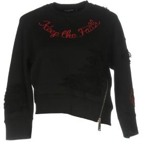 《期間限定セール開催中!》DSQUARED2 レディース スウェットシャツ ブラック XS コットン 100%