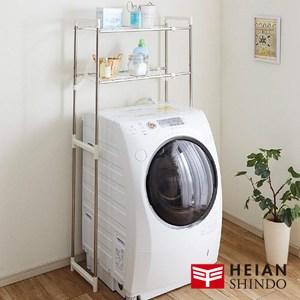日本【平安伸銅】多功能不鏽鋼曬衣/收納二層洗衣機/衛浴伸縮置物架 伸縮置物架 HC-10