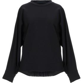 《期間限定セール開催中!》,MERCI レディース スウェットシャツ ブラック M コットン 95% / ポリウレタン 5%