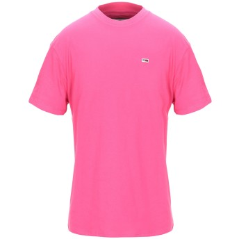 《セール開催中》TOMMY JEANS メンズ T シャツ フューシャ M コットン 100% TJM TOMMY CLASSIC