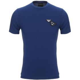 《セール開催中》EMPORIO ARMANI メンズ T シャツ ブルー XXS コットン 100%