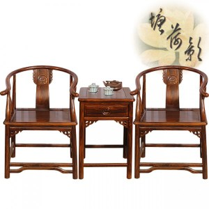 塘荷影 明式太師椅組(一桌二椅)
