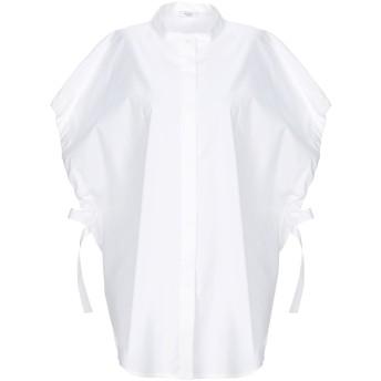 《セール開催中》PESERICO レディース シャツ ホワイト 42 コットン 97% / ポリウレタン 3%