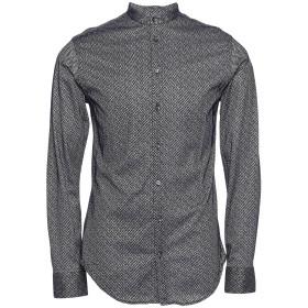 《期間限定セール開催中!》GIORGIO ARMANI メンズ シャツ ダークブルー 43 コットン 100%