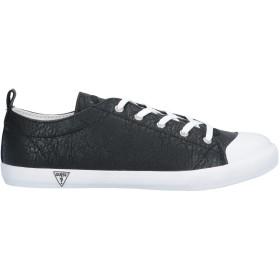 《セール開催中》GUESS レディース スニーカー&テニスシューズ(ローカット) ブラック 36 紡績繊維