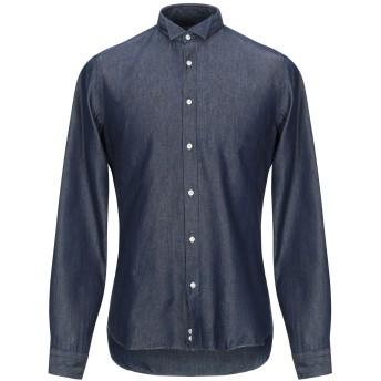 《期間限定セール開催中!》GIANMARCO メンズ デニムシャツ ブルー 39 コットン 100%