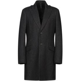 《9/20まで! 限定セール開催中》MESSAGERIE メンズ コート ブラック 48 バージンウール 61% / ポリエステル 24% / ナイロン 15%