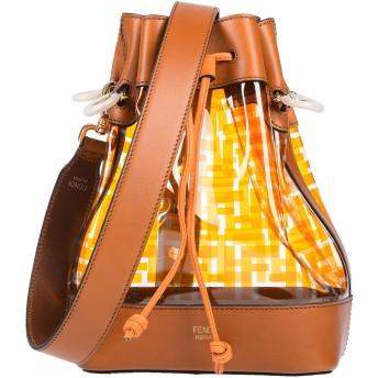 《9/20まで! 限定セール開催中》FENDI レディース メッセンジャーバッグ タン 牛革(カーフ) / 合成繊維