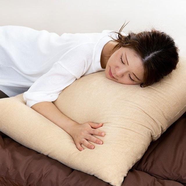 枕 ふわふわ 肩まで支えるBIGまくら 専用カバー付き 68×80cm 日本製 ( まくら ロング 肩こり )