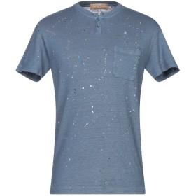 《期間限定セール開催中!》DANIELE FIESOLI メンズ T シャツ ブルーグレー M 麻 97% / ポリウレタン 3%