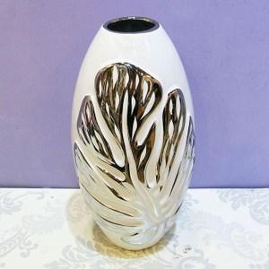 HONEY COMB 印度安娜花純白鍍銀橢圓花器 FB317