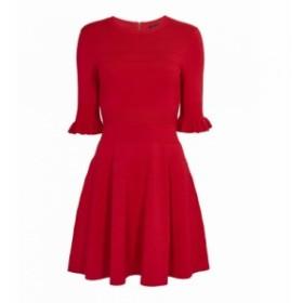 テッドベーカー Ted Baker レディース ワンピース ワンピース・ドレス Wonderland Frill Knitted Shift Dress Red