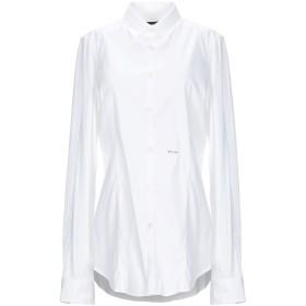 《期間限定セール開催中!》DSQUARED2 レディース シャツ ホワイト 46 コットン 97% / ポリウレタン 3%