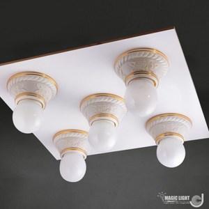 【光的魔法師Magic Light】美術型輕鋼架燈具 玫瑰花輕鋼架五燈