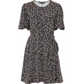 フレンチコネクション French Connection レディース ワンピース ワンピース・ドレス Angelina Meadow Floral Belted Dress Black/White