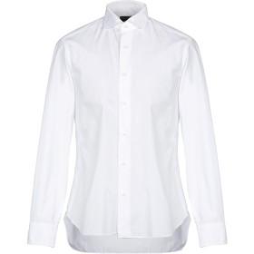 《期間限定 セール開催中》DANDYLIFE by BARBA メンズ シャツ ホワイト 45 コットン 100%
