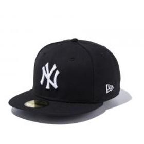 ニューエラ(NEW ERA) MLB カスタム 59FIFTY ニューヨーク ヤンキース キャップ BLK SWHT 11308564(Men's)