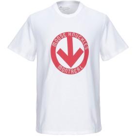 《期間限定セール開催中!》MOOSE KNUCKLES メンズ T シャツ ホワイト S コットン 100%