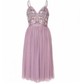 デックスクロージング Dex Clothing レディース ワンピース ワンピース・ドレス Strap Dress W/ Embrodiery Detail Mauve