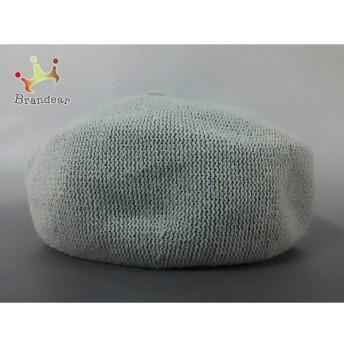 アナトリエ anatelier 帽子 新品同様 グレー アクリル×ナイロン×ポリエステル 新着 20190829