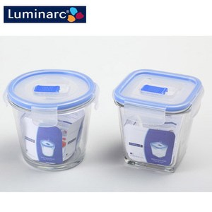 Luminarc 樂美雅 氣閥保鮮罐(圓型840ml+方型750ml)